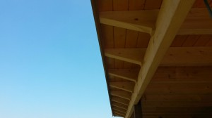 Kapconstructie van de veranda in Gorssel